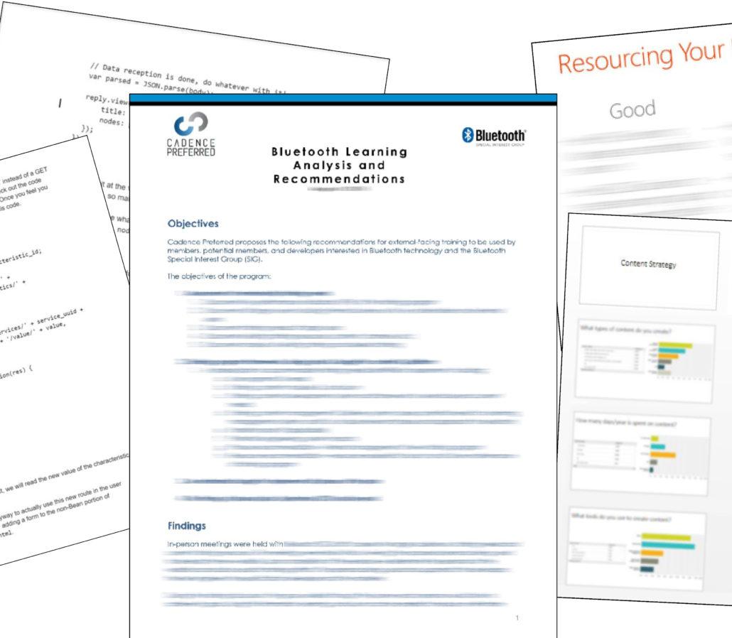 various Bluetooth developer training materials